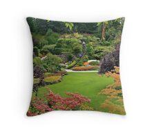 The Sunken Garden Throw Pillow
