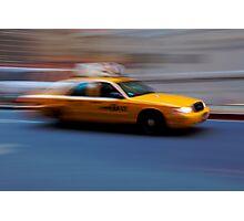 Moving Yellow Photographic Print