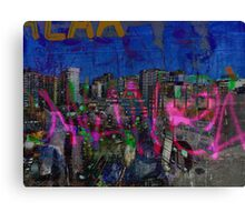 The Naked Neon of urban graffiti dreams. Canvas Print