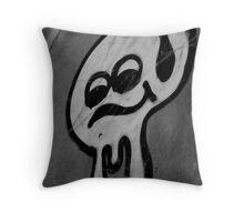Slimy Smiley Throw Pillow