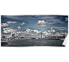 Rotterdam Skyline, Brug Bridge. Poster