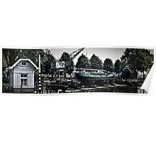 Long boat at Rotterdam Poster