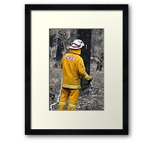 Mopping Up Framed Print