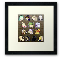 Faces of FFVI Abstract Framed Print