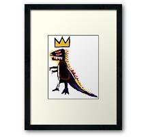 Basquiat Dinosaur Framed Print
