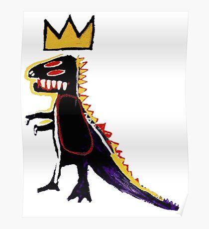 Basquiat Dinosaur Poster