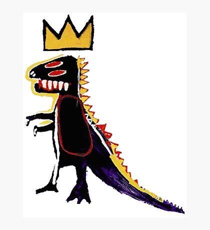 Basquiat Dinosaur Photographic Print