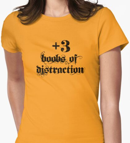 +3 Boobs of Distraction Womens Fitted T-Shirt