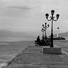Pier in Athenia, Greece by lukefarrugia
