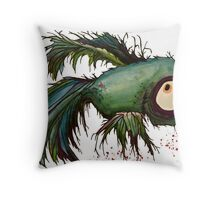 """""""ds"""" the zombie betta fish Throw Pillow"""