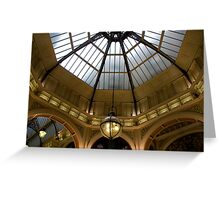 Melbourne Block Arcade Dome Greeting Card