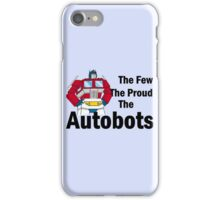 Transformers - The Few The Proud - Black Font iPhone Case/Skin