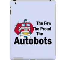 Transformers - The Few The Proud - Black Font iPad Case/Skin
