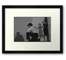 Watch Your back Framed Print