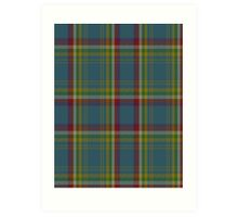 00121 Yukon District Tartan  Art Print