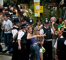 The Notting Hill Carnival - Bobbies - 2009 by Claire Haslope