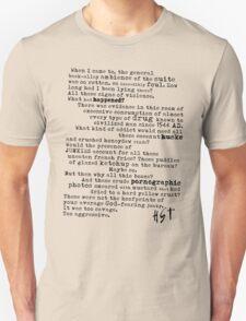 Thompsons Typewriter Unisex T-Shirt