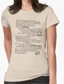 Thompsons Typewriter Womens Fitted T-Shirt