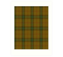 00123 Saskatchewan District Tartan  Art Print