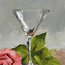 Pink Rose N Glass by Jaana Day
