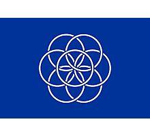 Planet Earth Flag Photographic Print