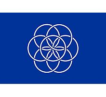 Planet Earth Flag Photographic Print