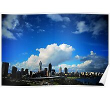 Perth City Skyline Poster