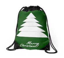 Abstract Christmas Tree Drawstring Bag
