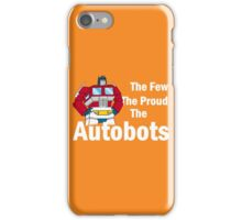 Transformers - The Few The Proud - White Font iPhone Case/Skin