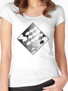 Escher's Pigs Women's Fitted Scoop T-Shirt