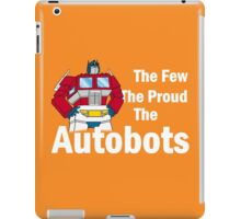 Transformers - The Few The Proud - White Font iPad Case/Skin