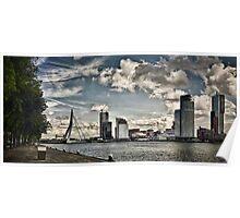 Erasmus bridge, Rotterdam. Poster