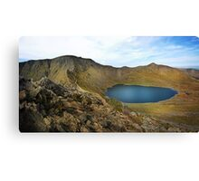 Helvellyn,Striding Edge,Catstye Cam and Red Tarn Canvas Print