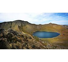 Helvellyn,Striding Edge,Catstye Cam and Red Tarn Photographic Print