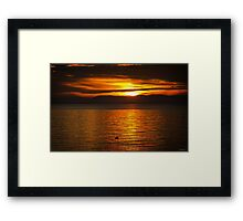 Where You Are Right Now - Sunset Art Framed Print