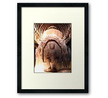Buddha stupa Framed Print