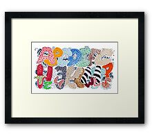 Untamed Alphabet Framed Print