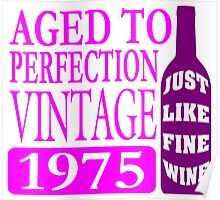 Vintage 1975 Aged To Perfection Poster