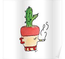 Smokey Joe The Smoking Cactus | Emma Watts Poster