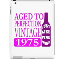 Vintage 1975 Aged To Perfection iPad Case/Skin