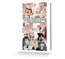 Taylor Swift Collage - Pink ♡ Greeting Card