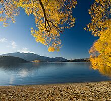 Lake Wanaka, Autumn. by Michael Treloar
