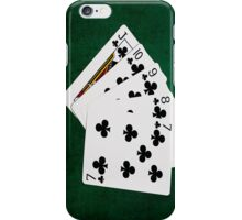 Poker Hands - Straight Flush Clubs Suit iPhone Case/Skin