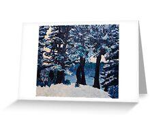 WInter Lakeside Trees Greeting Card