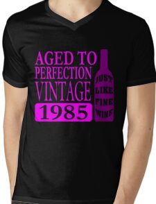 Vintage 1985 Aged To Perfection Mens V-Neck T-Shirt
