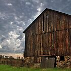 Evening Clouds And Old Barn by Ella Blame