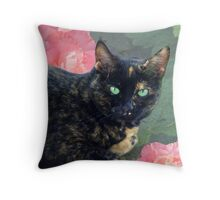 Mysterious Miss Sadie Throw Pillow