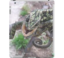Colourful Chameleon Wrapped Around A Branch iPad Case/Skin