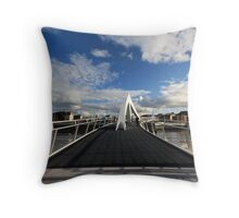 The Squiggly Bridge Throw Pillow
