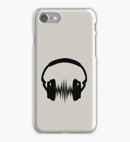 Headphone, Music, Disco, Dance, Electro, Trance, Techno, Wave, Pulse,  iPhone Case/Skin